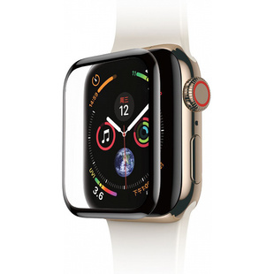 Защитное стекло для Apple Watch series 4 40mm (Baseus Full-screen Curved Tempered Film SGAPWA4-A01) (черный)